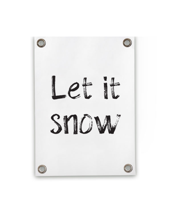 242048 SIPP Outdoor Tuinposter Let is snow